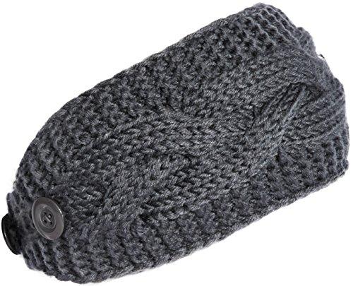 KMystic Plain Adjustable Winter Cable Knit Headband (Acrylic Knit Headband)