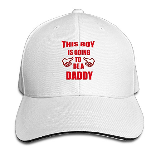Unisex This Boy Is Going To Be A Daddy Adjustable Snapback Trucker Hat White One Size