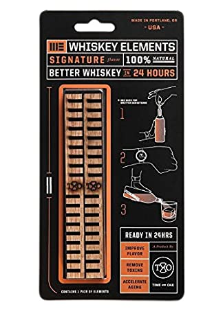 SIGNATURE Signature Whiskey Elements By Time and Oak,Pack of 6 001A-6