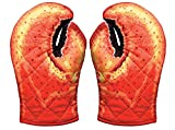 Lobster Claw Oven Mitts, Set of 2, Quilted Cotton, Designed for Light Duty Use, by Boston Warehouse