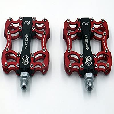 OZUZ BMX MTB Mountain Bike Bicycle Aluminum Pedals Three Sealed Bearing Shock Absorption Pedal 9/16""
