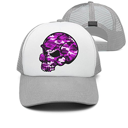 Youmaosy Vintage Caps Skull Pink Camouflage Unisex Adjustable mesh Trucker Hat