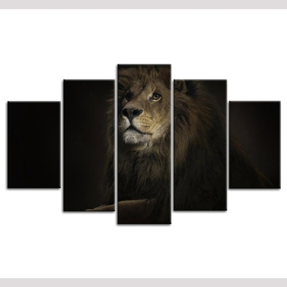 5 Canvas Art Framed for Living Room Movie Poster Animal Picture Wall Decor Nordic Art Canvas Printsstyle 1^^^16x20+16x28+16x40 inch Framed