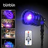 Blinblin Christmas LED Light Projector, Waterproof Outdoor Indoor Party Decorations Landscape Lights with Remote Controller for Halloween Easter Birthday Garden Party Spotlight Colorful