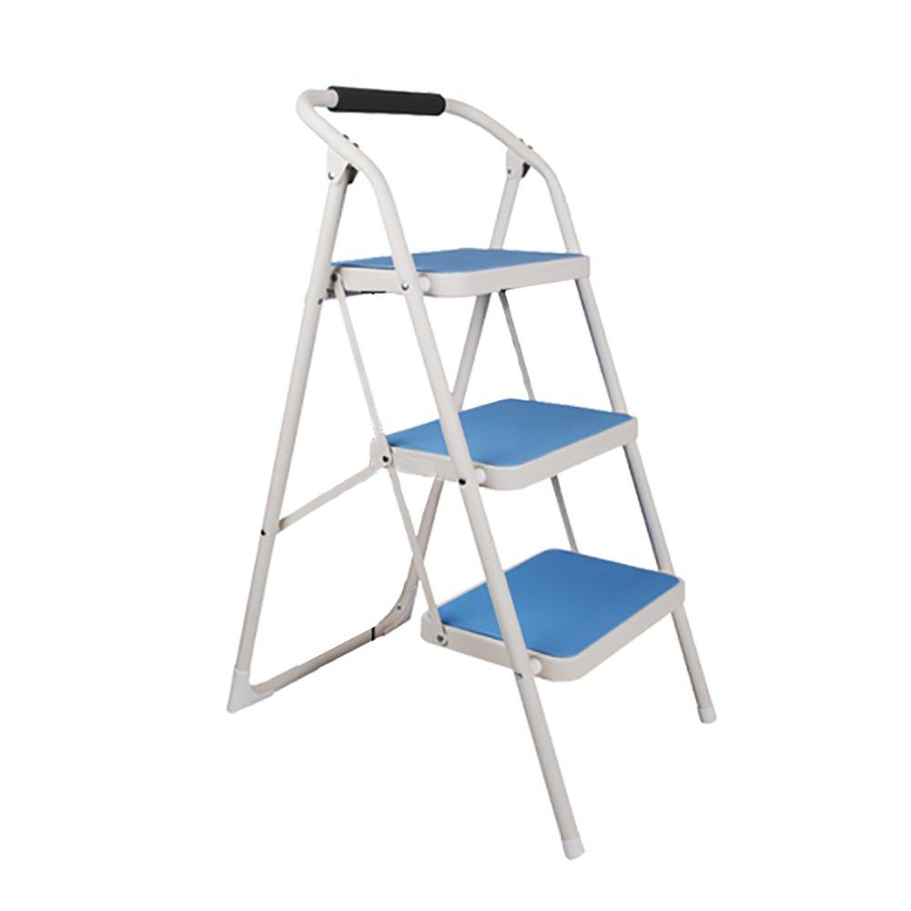 YXX- ブルーホームアンチスリップラダー折り畳みステップスツール椅子大人用折りたたみチェアポータブルフットスツール/踏み台/収納棚/フラワーラック (サイズ さいず : 4 tiers) B07F25H9LG 4 tiers4 tiers