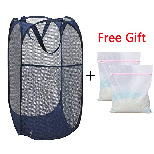 - MAXIDEA Pop Up Laundry Hampers Mesh Laundry Baskets with Side Pocket, Folding Clothes Hamper Great for The Kids Room, College Dorm or Travel Storage
