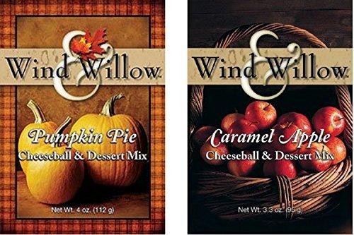 Wind & Willow Sweet Autumn/Fall Cheeseball and Dessert Mix Bundle - Caramel Apple & Pumpkin Pie by Wind & Willow