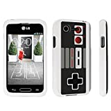 DuroCase ® LG L34C Optimus Fuel / LG Optimus Zone 2 VS415PP Hard Case White – (Game Controller)