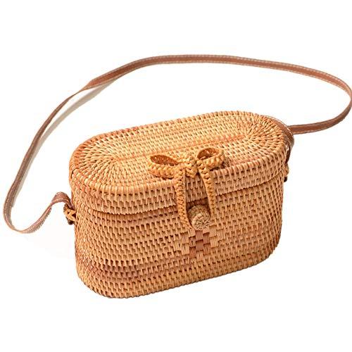 Rattan Vintage (Via Moi Peony Rattan Cross-body Handbags 7.68