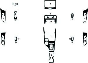 Rdash Dash Kit Decal Trim for Ford Ranger 2019-2020 - Carbon Fiber 4D (Black)