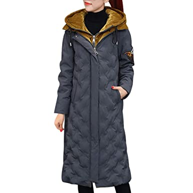buy popular 3ba69 b5212 SHINEHUA Mantel Damen Winter, Frau Mit Kapuze Winter Outwear Warm Lang Dick  Baumwollparka Schlanke Jacke Mantel Damen Winterjacke Wintermantel Jacke ...