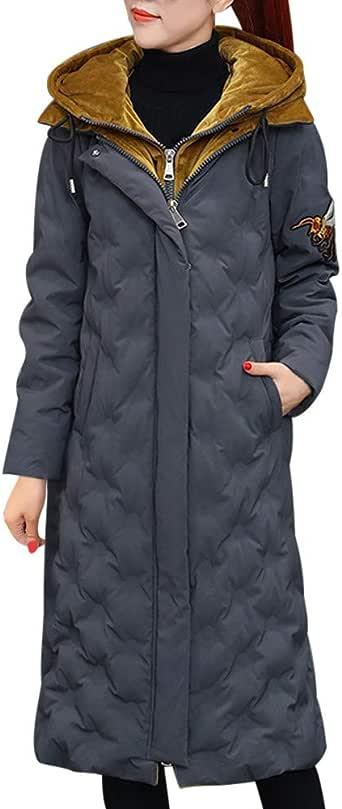 LUCKYCAT Mujer Invierno Casual Más Gruesa Abrigo Parkas Militar con Capucha Chaqueta de Acolchado Anorak Jacket Outwear Coats
