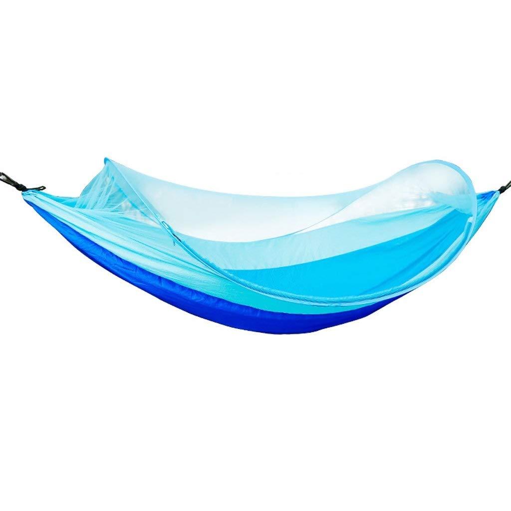 旅行キャンプハンモック付き蚊帳ポータブルパラシュートスイング用屋外中庭ガーデンキャンプビーチ   B07Q8Y23RQ