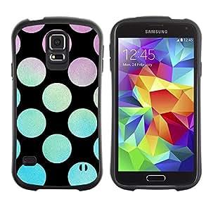 "Hypernova Slim Fit Dual Barniz Protector Caso Case Funda Para Samsung Galaxy S5 [Disco Party Salón Negro""]"
