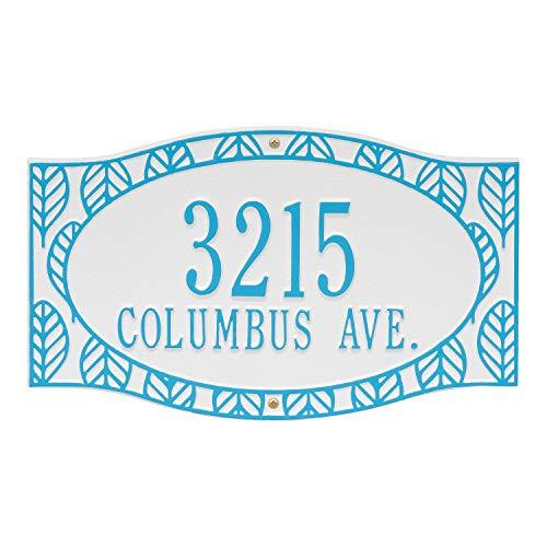 [해외]화이트홀 커스텀 프 론 네오 하우스 벽 어드레스 플 라크 15 \\ / Whitehall Custom Frond Neohaus Wall Address Plaque 15 W x 9 H (2 Lines)