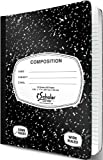 iScholar Composition Book, 150 Sheets, Wide Ruled, 9.75 x 7.5-Inches, Black Marble Cover (10150)