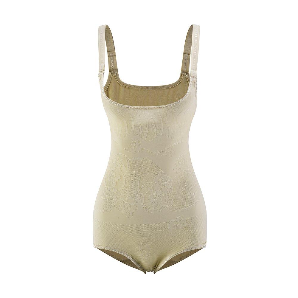 Amazingjoys Women's Open Bust Bodysuit Seamless Body Shaper Slimmer Shapewear