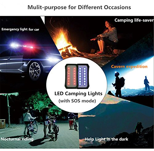 Solar Charger with Strong LED Flashlight, 10000mAh Solar Phone Charger with Dual USB Port, Outdoor Portable Solar Power Bank Built-in Strong 52LED Flashlight for Camping, Travelling & other Activities by URWILL (Image #6)