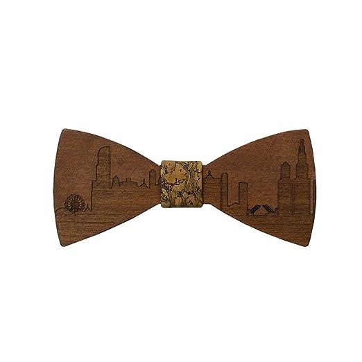 Keliour-tie Corbatas de Lazo para Hombre Corbatas talladas a Mano ...