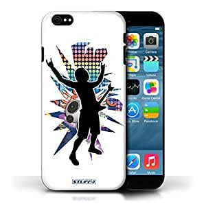 KOBALT? Protective Hard Back Phone Case / Cover For Case HTC One M7 Cover | Rock n Roll White Design | Rock Star Pose Collection