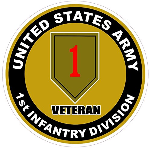 1 Pc Profound Unique United States U.S. Army 1st Infantry Division Veteran Stickers Signs Decor Wall Windows Macbook Laptop Car Decal Trucks Window Patches Decals Cars Vinyl Sticker Size - Ray Bans For Guys