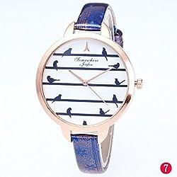 YJYdada Fashionable Women's Strap With Bird Quartz Watch Women's Watch Quartz Strap (G)