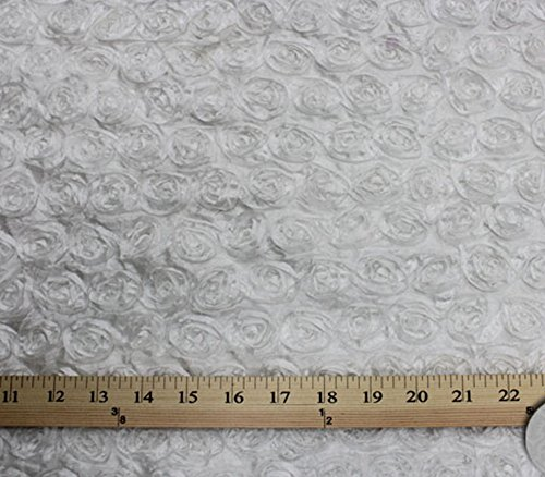 Taffeta Fabric Small Rosette WHITE / 58-60