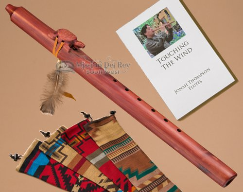 Native American Cedar Flute Pack -Turtle & Bag Navajo Artist Jonah Thompson JTFLUTE-CEDART