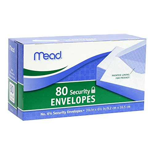 Mead Security Envelopes Count 75212