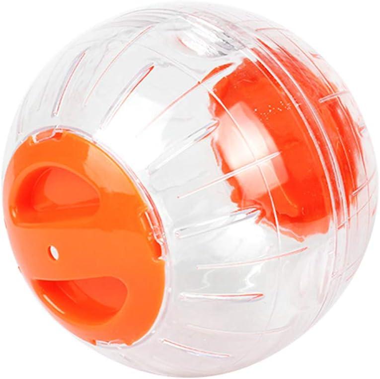 Orange Hemobllo Hamster Running Ball Run Exercise Ball Run-About Mini Ball for Small Animal