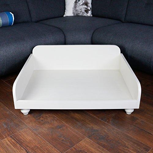 Cama para perros Madera Crema Blanco Perro longue Espacio Descanso perro perros sofá Animales Muebles 80 x 60 cm: Amazon.es: Productos para mascotas