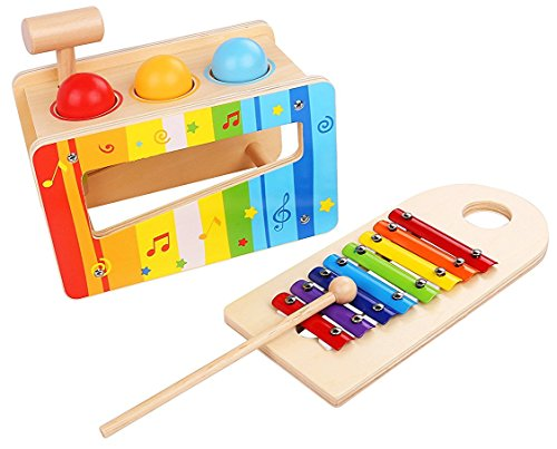 Pound and Tap Bench with Slide Out shape Xylophone – Anniversary Edition