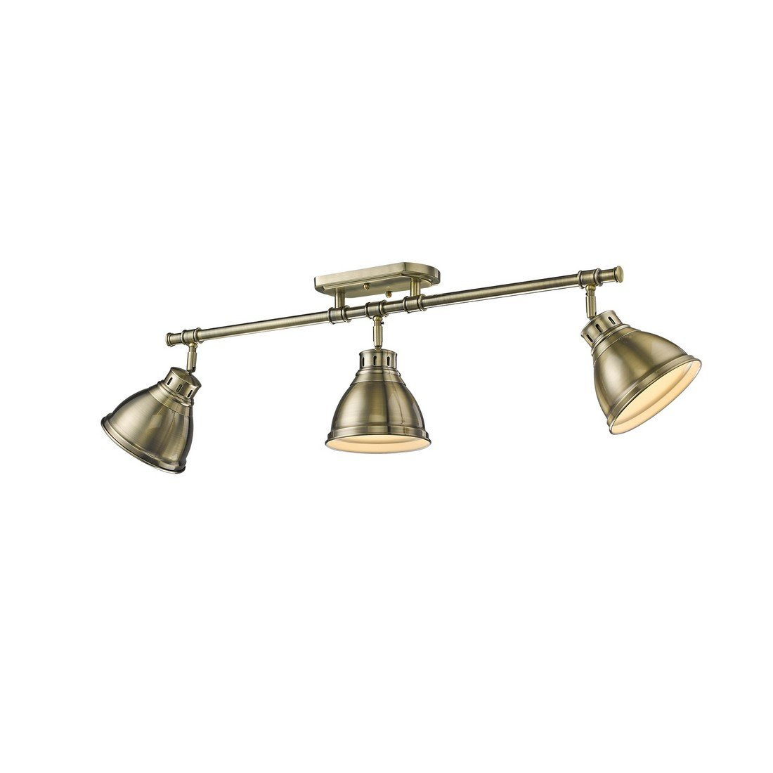 Golden Lighting 3602-3SF AB Three Track Light, Gold
