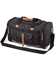 Plambag Canvas Luggage Duffel Bag Travel Tote Shoulder Bag(Dark Grey)