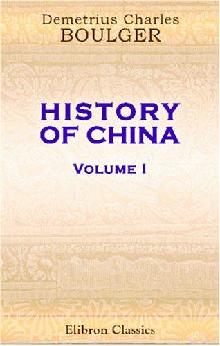 History of China: Volume 1 pdf