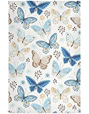 ALAZA Flying Butterflies Blue Yellow Kitchen Towels or Dish Cloths for Kitchen Highly Absorbent Dishcloths Soft Hand Towels Bar Towels Tea Towels