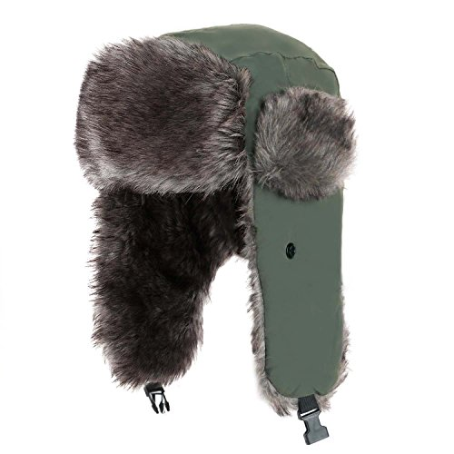 Yesurprise Trapper Warm Russian Trooper Fur Earflap Winter Skiing Hat Cap Women Men Windproof (Trapper Bomber)