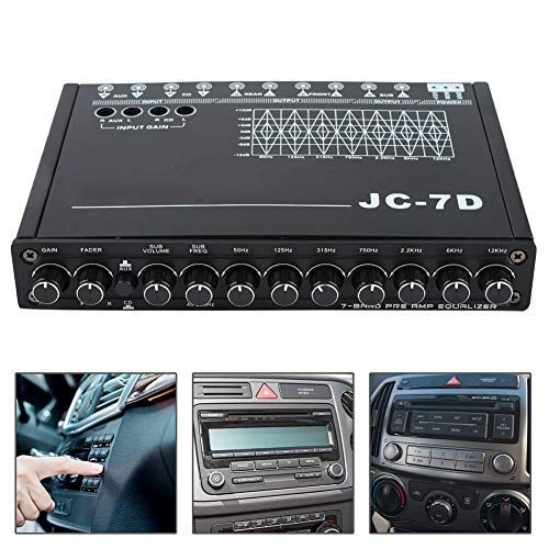 - Delaman Car Equalizer Digital Car 7 Bands Audio Bass Restoration Equalizer Audio Control JC-7D