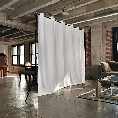 RoomDividersNow Premium Heavyweight Freestanding Room Divider Kit - Small A, 8ft Tall x 7ft - 12ft 6in Wide (Natural (Freestanding Portable Partition)