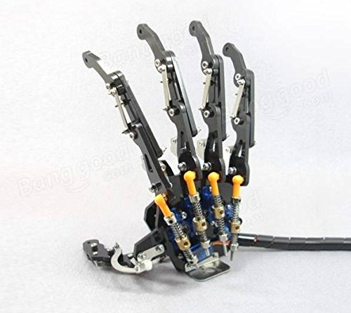 DIY 5DOF Five Servo to Drive, Each Fingers Can Individually Move Flexible Robot Five Fingers Metal Mechanical Paw Left and Right Hand