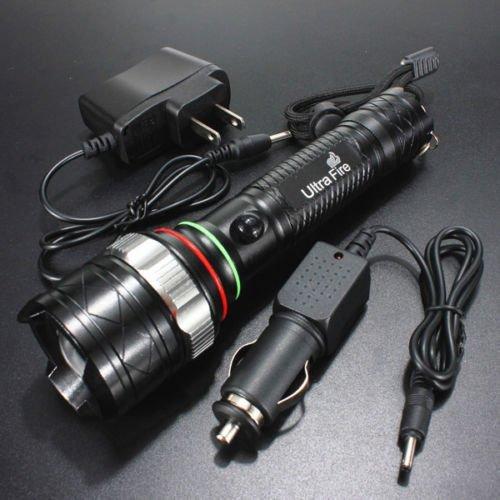 UltraFire LED Flashlight CREE T6 2000 Lumens Torch – Black - 6
