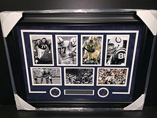 BALTIMORE COLTS HALL OF FAME JOHNNY UNITAS FRAMED COLLAGE ART DONOVAN PHOTO SET