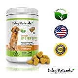 Deley Naturals - Advanced Arthritis Pain Relief for Dogs. Best Glucosamine for Dogs with Chondroitin - MSM & Organic Turmeric. 100% Natural Hip & Joint Supplement for Dogs. 120 Chicken Soft Chews