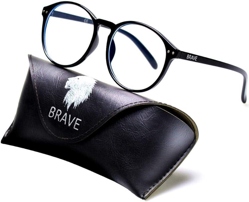 Brave Gafas Ordenador con Filtro de Luz Azul; Protección Durante Gaming, Trabajo; Anti-reflejantes para Hombre y Mujer
