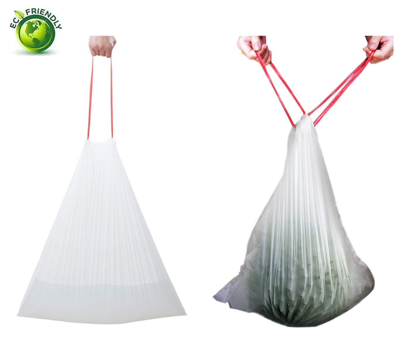 8 Gallon, 13 Gallon,30 Gallon 8 Gallon Drawstring Trash Bags,13 Gallon Trash Bags,8 Gallon Trash Bags and 30 Gallon Trash Bags,Kitchen Trash Bags,Used for House,Office,Hotel,Outdoor,High Tenacity