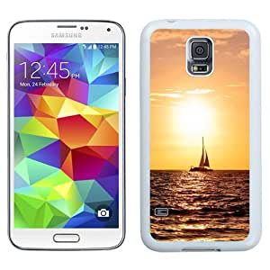New Beautiful Custom Designed Cover Case For Samsung Galaxy S5 I9600 G900a G900v G900p G900t G900w With Ship On Sunset Sea (2) Phone Case