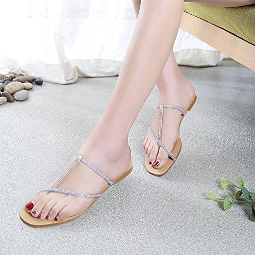 Casual Flip Plat Anguang Pantoufles Sandales Confort Chaussons Femmes Flops Chaussures aFxv1q