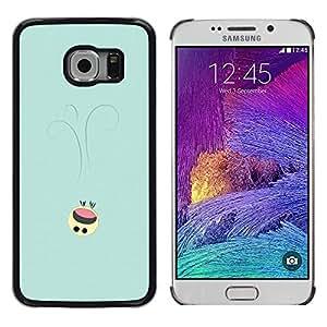 EJOY---Cubierta de la caja de protección la piel dura para el / Samsung Galaxy S6 EDGE / --Lindo Smiley