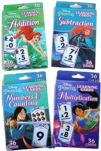 Bendon Publishing Princess Learning Flash Card Set - Multiplication, Subtraction, Addition, Numbers & Counting (Cards Princess Flash)