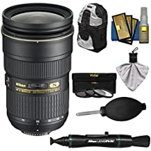 Nikon 24-70mm f/2.8G AF-S ED Zoom-Nikkor Lens with Backpack + 3 Filter Kit for D3200, D3300, D5300, D5500, D7100, D7200, D750, D810 Cameras